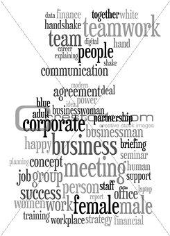 Business text cloud