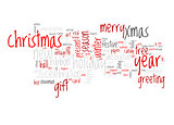 Christmas text cloud