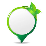 Green Eco Label With Leaf