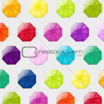 Background With Color Umbrellas