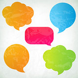 Colorful Vintage Speech Bubbles