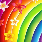 Fantastic Colorful Background With Flowers