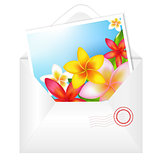 Open Envelope With Flowers Card
