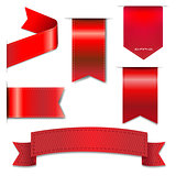 Red Web Ribbons Set