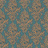 Floral pattern Damascus style, vector Eps10 illustration.