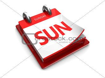 calendar icon of sunday