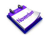 calendar date is november