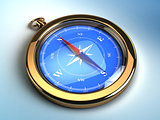 golden pocket compasses