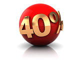 forty percent discount sign
