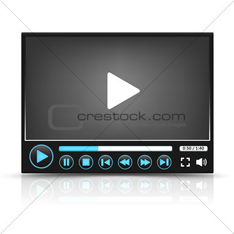 Black Vector Video Player Interface