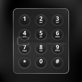 Black Vector Phone Keyboard