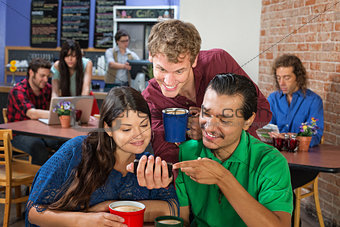 Friends Looking at Phone