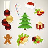 Paper christmas elements