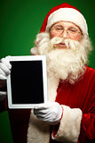 Santa with touchpad