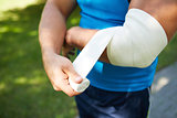 Bandaging arm