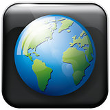 Icon Earth Globe