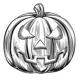 Vintage halloween pumpkin