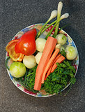 vegetables on plate