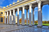 Ccolonnade of Alexander palace in Pushkin,