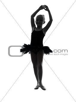 one little girl ballerina ballet dancer dancing silhouette