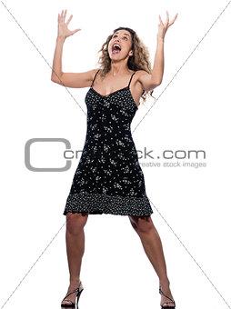 Beautiful Woman Portrait  Shout happy