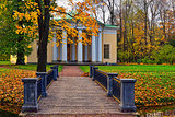 "Landscape with ""Concert Hall"" pavilion in Pushkin."