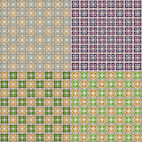 Vector set of four seamless patterns