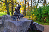 "Fountan ""Girl with Jar"" in Catherine park in Pushkin, Russia."