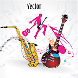 Vector music party, concert