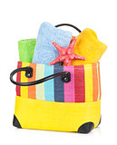 Beach bag with towels