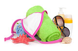 Swimming suit and beach items