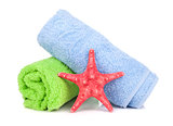 Beach towels and starfish