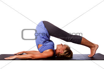 Back stretch yoga beauty woman