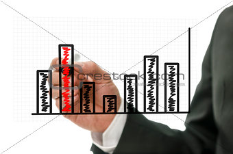 Business graph on virtual screen