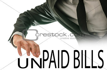Changing phrase Unpaid bills into Paid bills