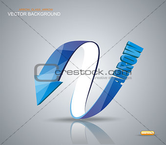 Blue Arrow. Vector Symbol.