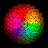Rainbow style vector wheel