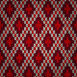 Seamless christmas red knitted pattern