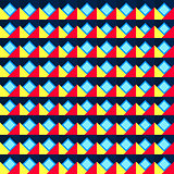 Seamless geometric color pattern