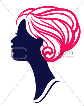 Beautiful womanl silhouette