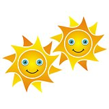 Smiling suns