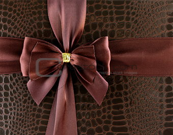 festive ribbon chocolate color (brown) for background