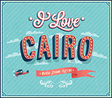 Vintage greeting card from Cairo - Egypt.