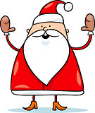 cute santa claus cartoon illustration