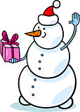 christmas snowman cartoon illustration