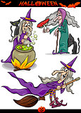 Halloween Cartoon Spooky Themes Set