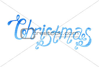 Watercolor Christmas type
