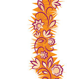 Seamless floral pattern. vertical Border