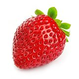 Ripe single strawberry