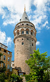 galata tower landmark in istanbul turkey